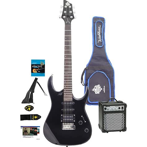 house of guitars washburn house of blues electric guitar package musician s friend