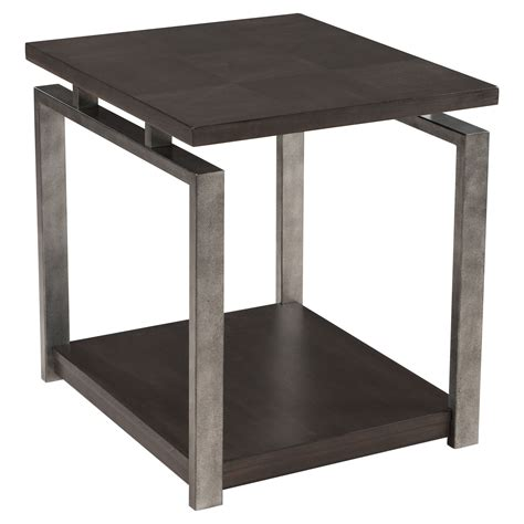 gun end table platinum charcoal and gun metal end table