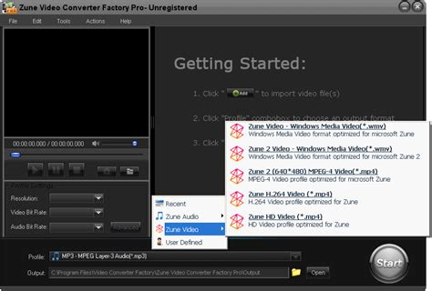 format factory pro zune video converter factory pro screenshot x 64 bit