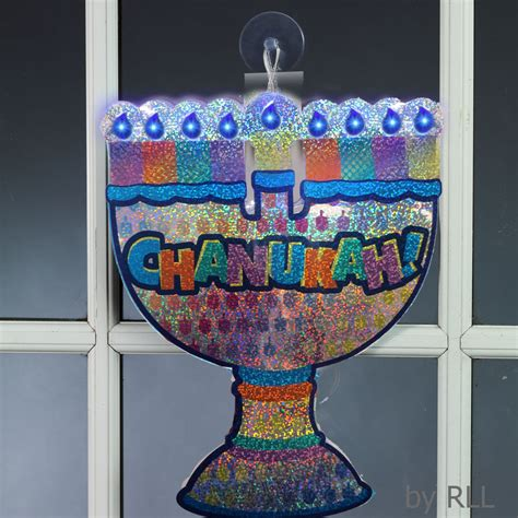 chanukah led window decoration