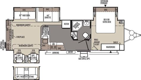 rockwood travel trailers floor plans 2015 forest river rockwood signature ultra lite 8325ss