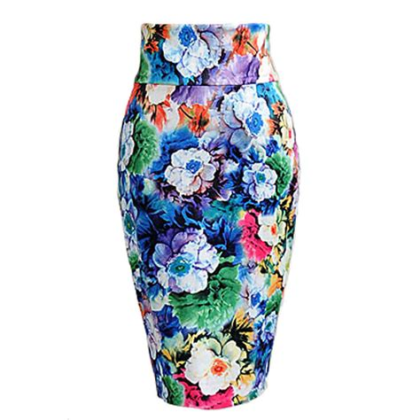 free shipping high waisted sheath colorful