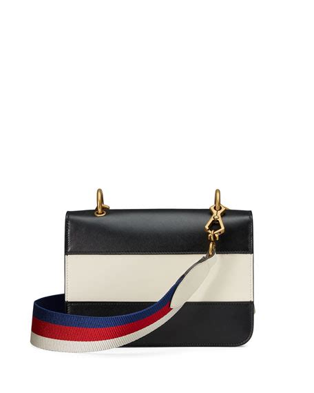 Gucci Shoulder Bag Mini Leather Gucci Linea Bee 01cg 891 22 gucci linea medium striped leather w bee shoulder bag black white