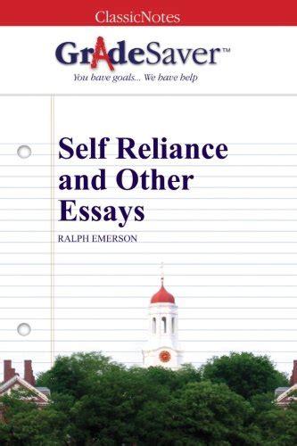 Self Reliance Essay by Mini Store Gradesaver