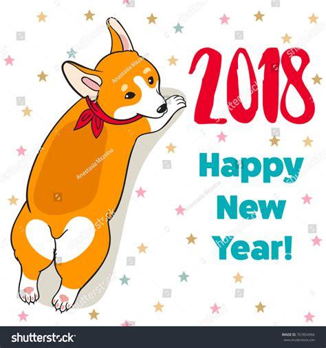 christmas new year greeting card cartoon stock vector