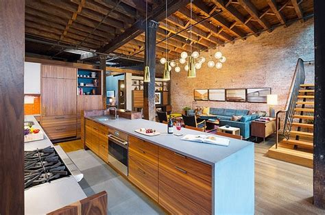 Planos Casas Rusticas #3: Kitchen-of-the-renovated-loft-with-beautiful-lighting.jpg