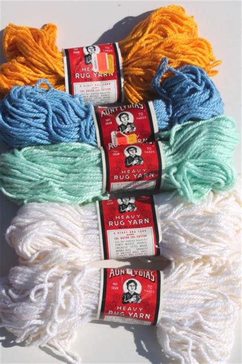 lydia s rug yarn vintage yarn lot lydia s heavy rug yarn rayon cotton bulky chunky yarn