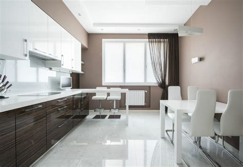 Paint Veneer Kitchen Cabinets by Taupe Interior Design