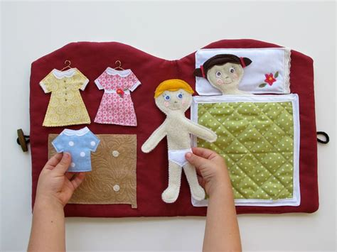 julie ann dolls house felt quiet book handmade doll house book travel and church quiet bo