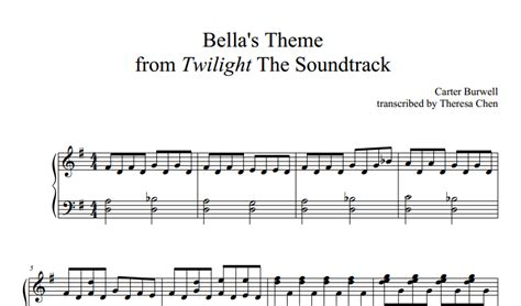 alexandre desplat river flows sheet for piano song in twilight themes