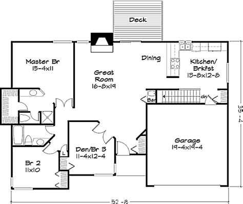 1400 square feet ranch style house plan 2 beds 2 baths 1400 sq ft plan