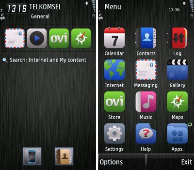 themes for mobile phones mobile phones dark steel theme for s60v5