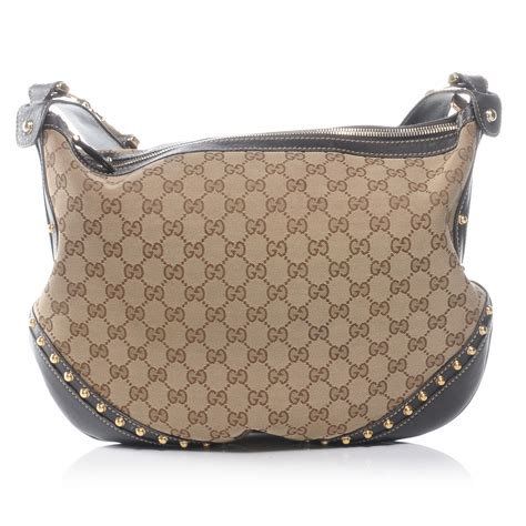 Gucci Borchie Bag by Gucci Monogram Borchie Studded Hobo 45679