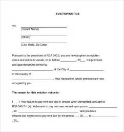 Eviction Letter Templates by Sle Eviction Notice Letter 8 Free Documents In Pdf Word
