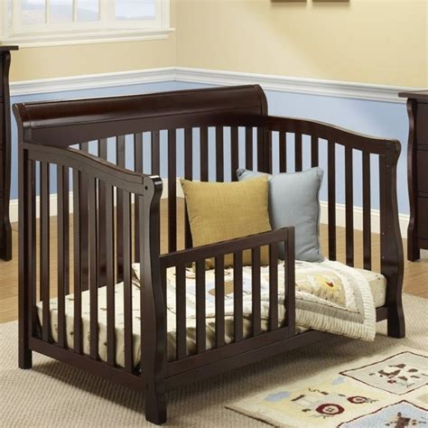 Florence Cribs by Sorelle Florence 4 In 1 Crib With Mini Rail In Espresso