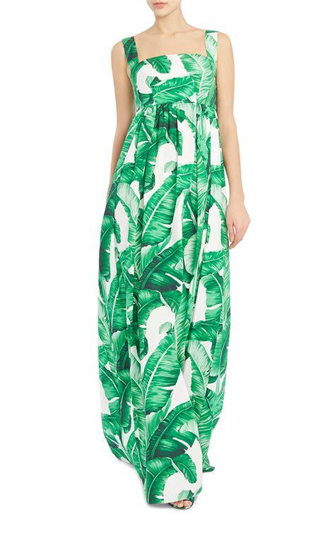 leaf pattern clothes palm leaf maxi dress by dolce gabbana moda operandi