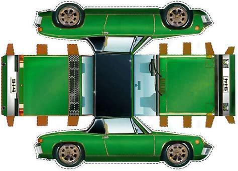 Papercraft Vehicles - 914 cutout vintage porsche papercraft