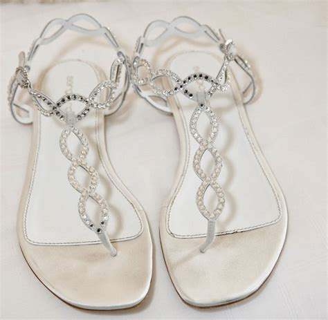 White Wedding Sandals by Wedding Shoes Wearing Flats Or Sandals At Your Wedding
