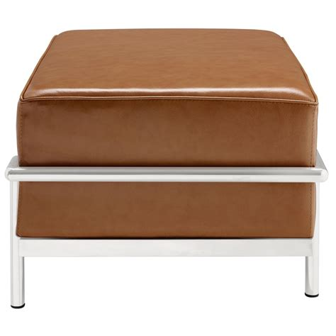 big ottoman simple large leather ottoman modern furniture brickell