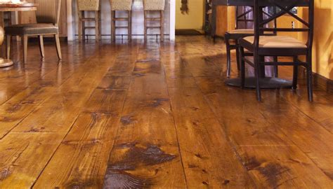 Wide Plank Distressed Hardwood Flooring Quot Hit Or Miss Eastern White Pine Quot Rustic Flooring And Distressed Wood Flooring From Carlisle