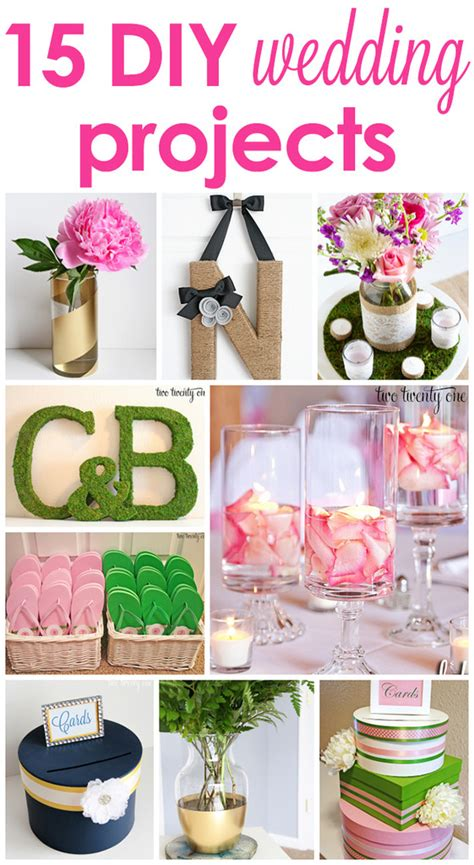 diy projects wedding 15 diy wedding projects
