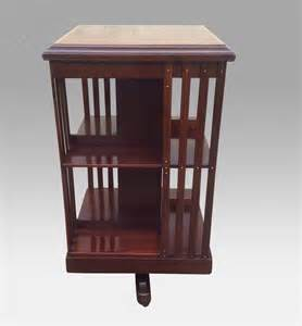 antique revolving bookcase for sale quality antique inlaid mahogany revolving bookcase