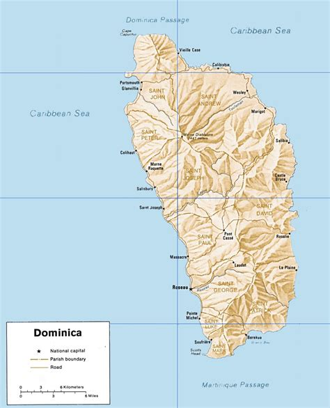 dominica on world map dominica maps