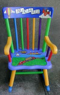 Ideas For Oak Rocking Chair Best 25 Painted Chairs Ideas On Marvel Childrens Bedrooms Cheap Lego Sets And