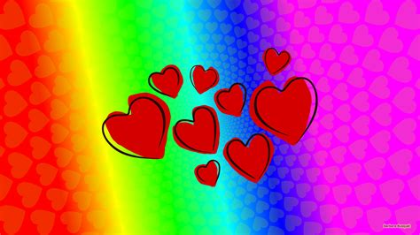 colorful love wallpaper hearts wallpapers barbaras hd wallpapers