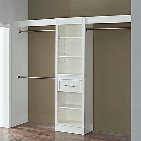 Bed Bath And Beyond Closet Organizer by Heritage Closet Organizer In Parisian White Bed