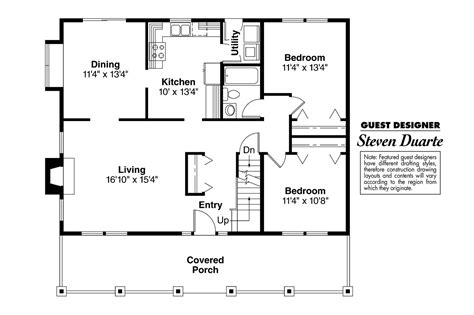 bungalow two section series bungalow house plans alvarado 41 002 associated designs