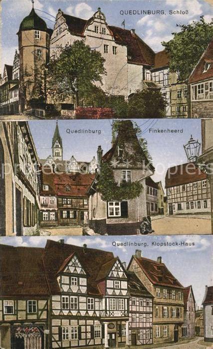 haus quedlinburg ak quedlinburg strassenpartie am klopstock haus nr