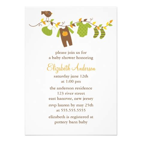 autumn baby shower personalized invitation zazzle