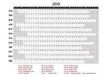 printable  south africa calendar templates  holidays