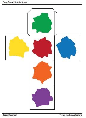 printable colour dice free printable paint cube from teach preschool via www