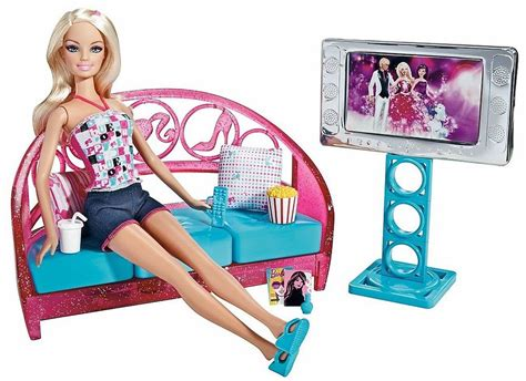 barbie couch barbie movies to munchies living room set doll couch tv