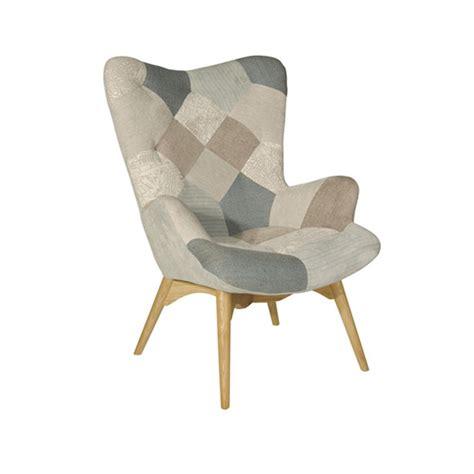 poltrona in legno sedia poltrona in tessuto patchwork con gambe in legno