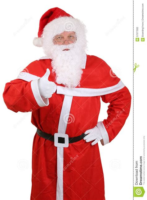 santa claus thumbs up santa claus portrait showing on thumbs up stock photo image 57077932