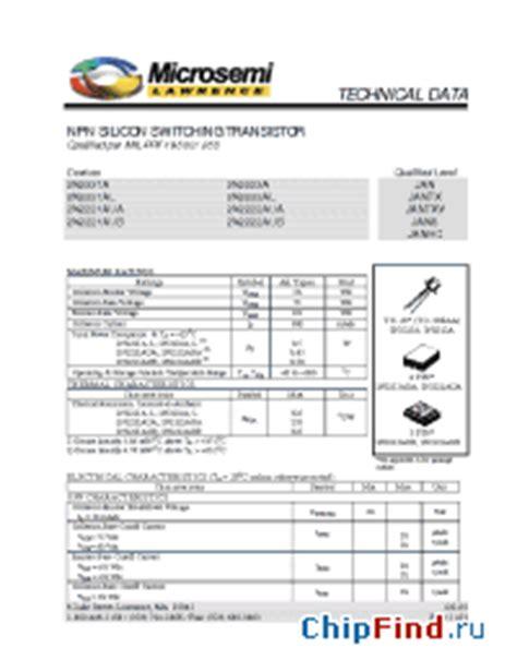 transistor datasheet 2n2222a 2n2222a microsemi npn silicon switching transistor