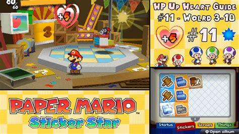 Paper Mario Sticker Hp Up Locations