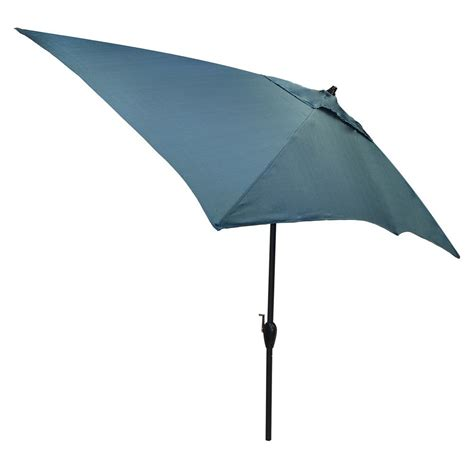 6 Ft Umbrella For Patio Plantation Patterns 10 Ft X 6 Ft Aluminum Patio Umbrella In Charleston With Tilt 9106 01242500
