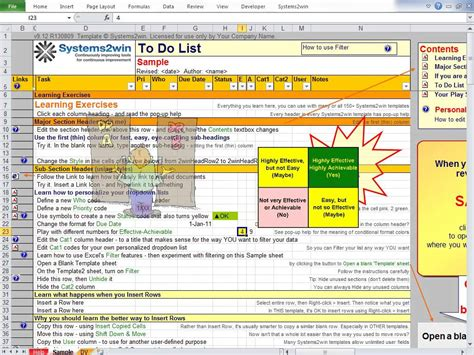 To Do List Excel Template Youtube How To Make A Template In Excel