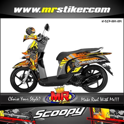 Decal Striping Custom Scoopy scoopy circle splater stiker motor striping