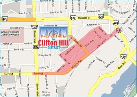 map canada driving directions map clifton hill niagara falls for driving