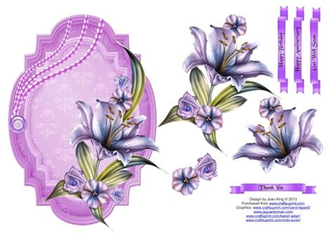 3d Decoupage Free Downloads - for my floral decoupage toppers winter