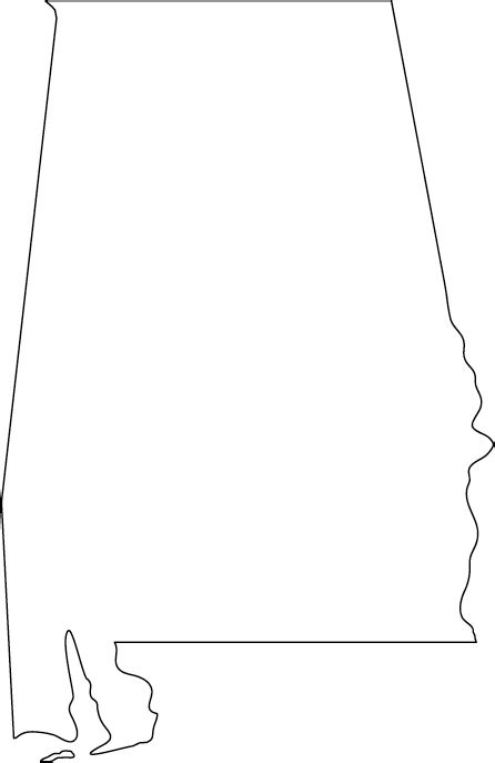 alabama map outline outline map of alabama