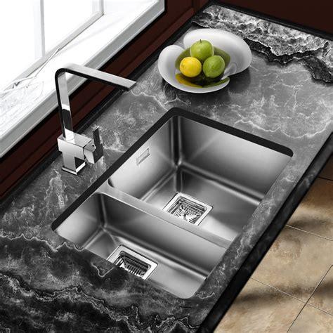 1 5 Kitchen Sink Astini Vico 1 5 Bowl Silk Stainless Steel Undermount Kitchen Sink As369lhsb