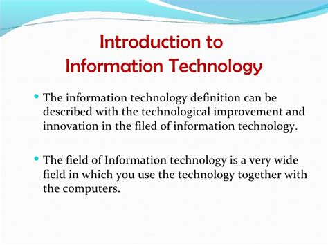 information technology report sle 1 1 introduction to it and development of it