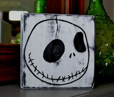 jack skellington home decor jack skellington custom wood sign halloween decor