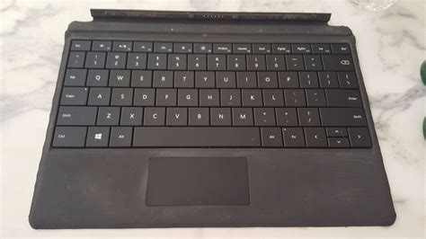 typography keyboard microsoft surface 3 type cover keyboard with backlit black ebay